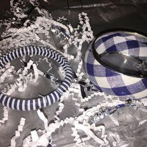 Set of 2 Fashion Bangles/Bracelets, Blue & White